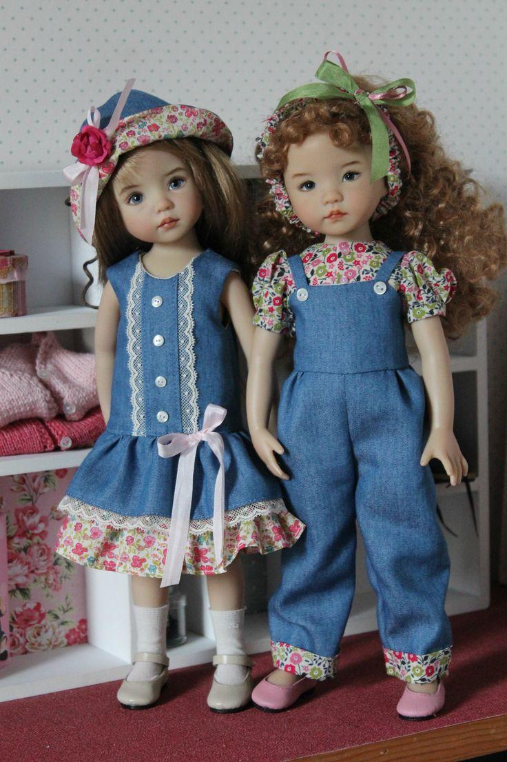 On continue sur le jean, le Liberty, la dentelle, cela se prête bien au printemps qui arrive!    Ce sont Joyce et...
