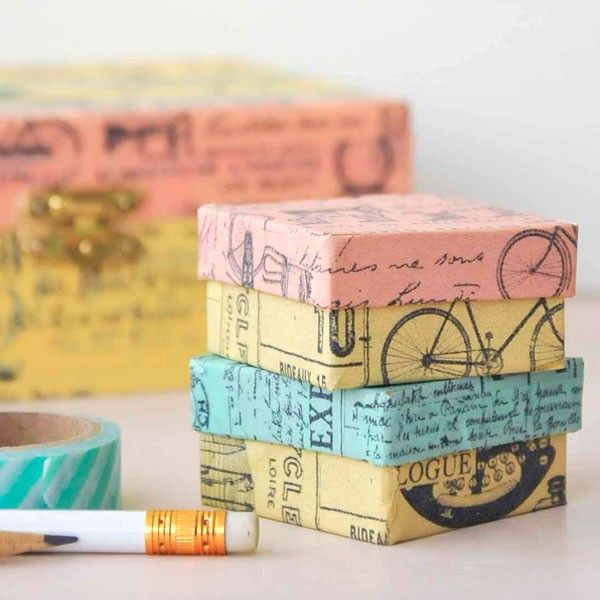 Vintage Washi Boxes — perfect for housing your precious trinkets and treasures!