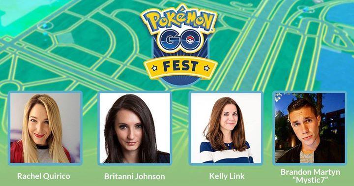 Tune into the Pokémon GO Fest livestream featuring Rachel, Britanni, Kelly, and Brandon at https://www.twitch.tv/pokemongo or https://www.youtube.com/pokemongo on July 22! #pokemon #pokemongo