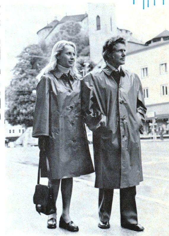 A couple in vintage klepper raincoats