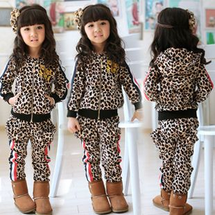 winter clothing for children child leopard print clothing set baby clothing set baby boy clothes twinset  girls set $701,91
