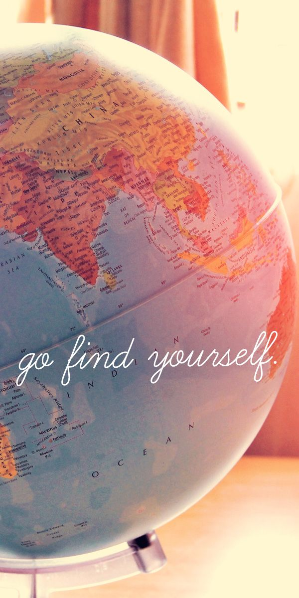 Go find yourself | How I quit my job and traveled the world | via @JustOneWayTicket | Travel Blog | Traveling as a lifestyle #travel #quote #inspiration #world #globe