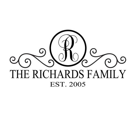 Family Crest Decal  Personalized to your family :)  https://www.etsy.com/listing/150035896/family-name-decal