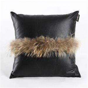 Taie d'oreiller oreiller housse de coussin en cuir de fourrure de laine