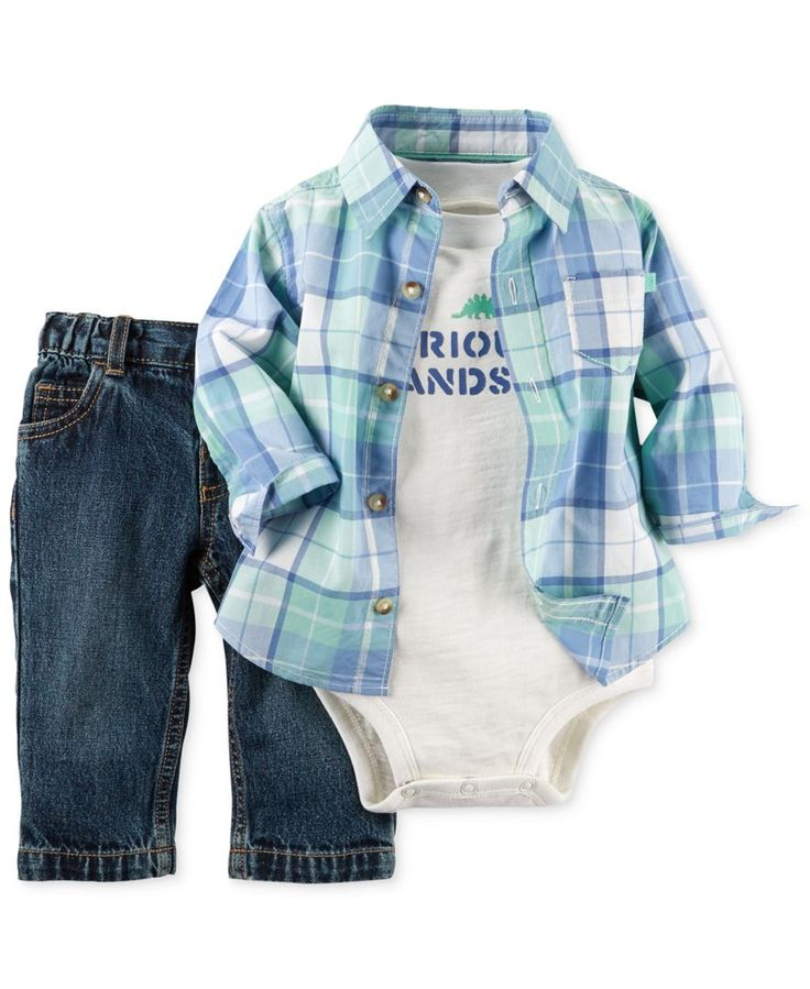 Carter's Baby Boys' 3-Piece Plaid Shirt, Bodysuit & Pants Set