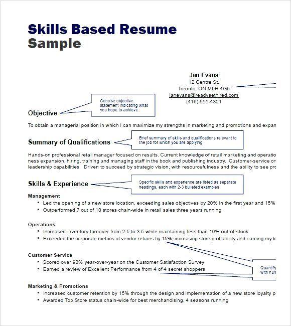 Awesome Skills Based Resume Template Word Idea