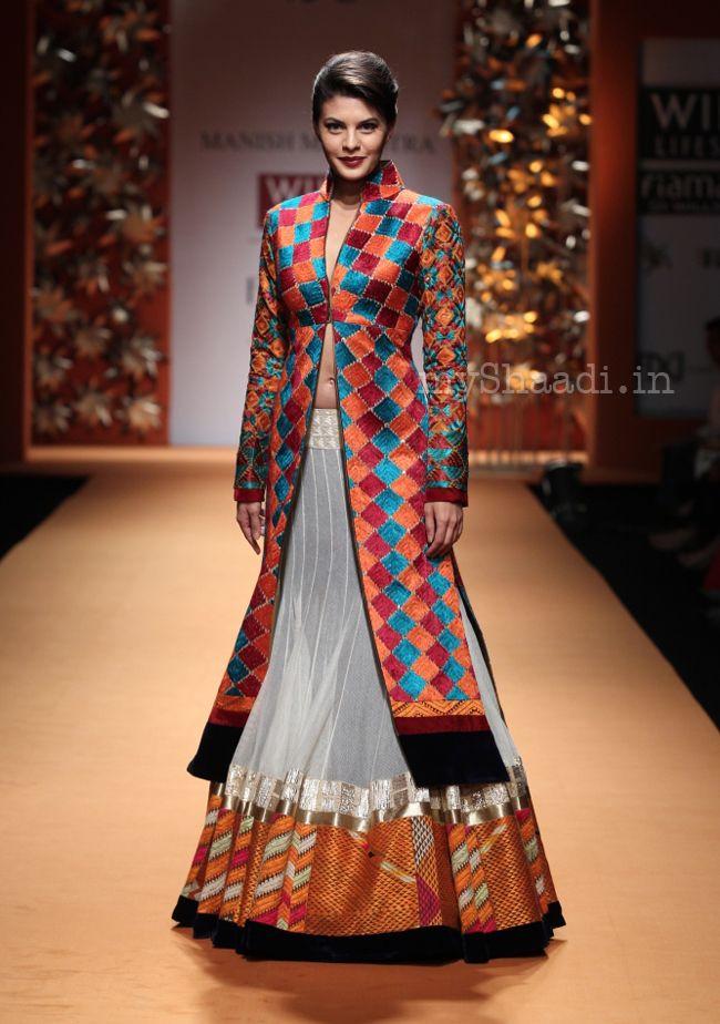 Unique, eye-catching, bride-worthy. Manish Malhotra Collection-Wills India Fashion Week 2013