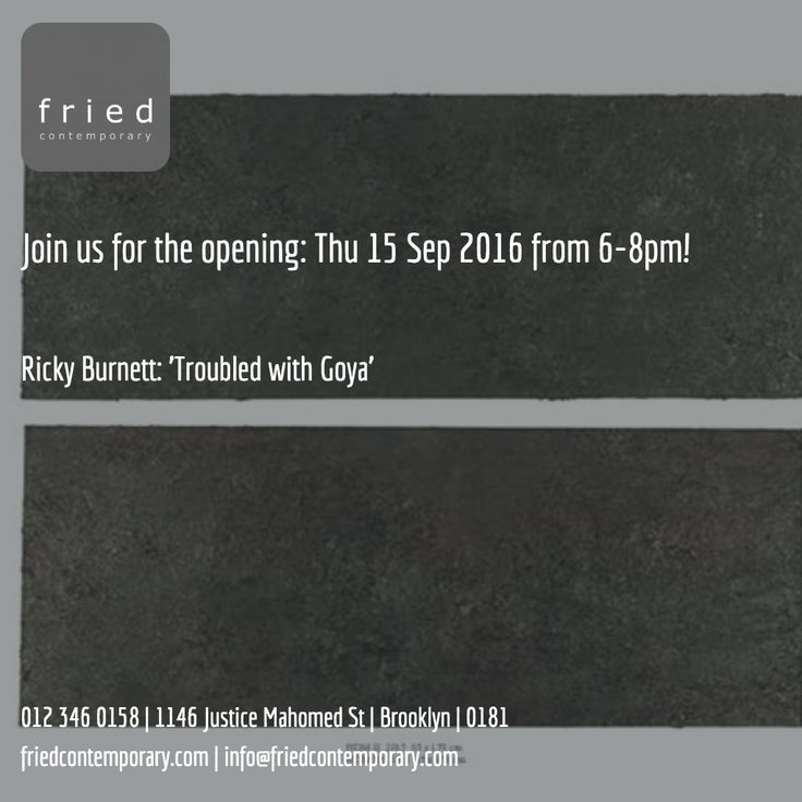'Troubled with Goya' opens Thu @6-8pm #wine #casual #conversation #artist #ricky_burnett #art #exhibition