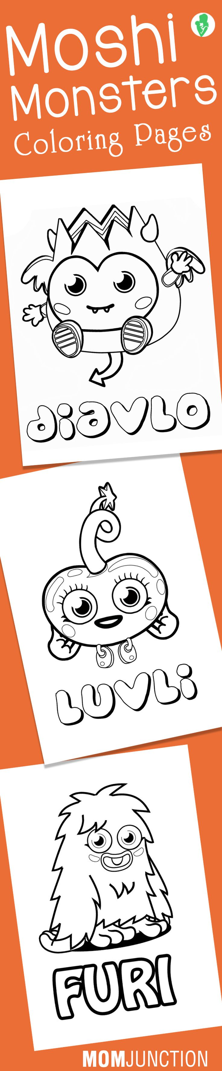 Top 10 Moshi Monsters Coloring Pages For Your Little Ones