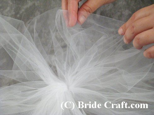 Step-by-step instrustions for creating a tulle pew bow for your wedding ceremony.