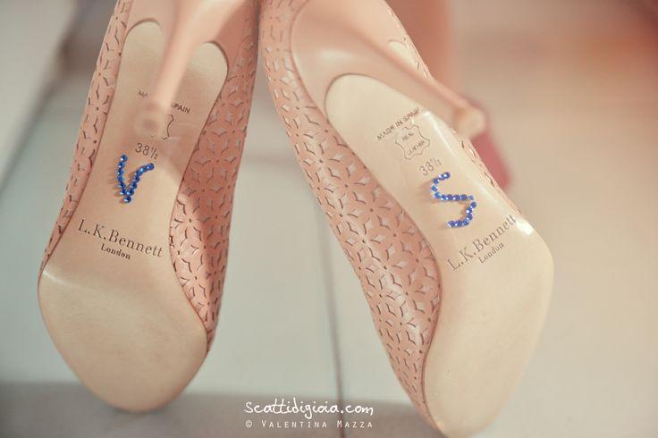 www.scattidigioia.com When the bride's shoes are very, very special...