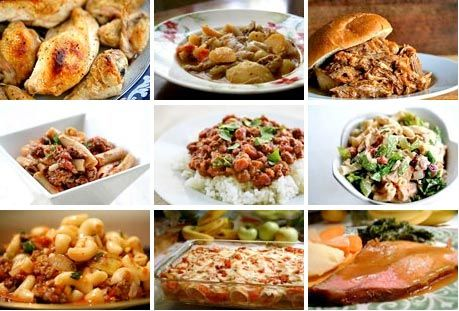 Several recipes and ideas for stretching your food dollar and cooking on a budget.