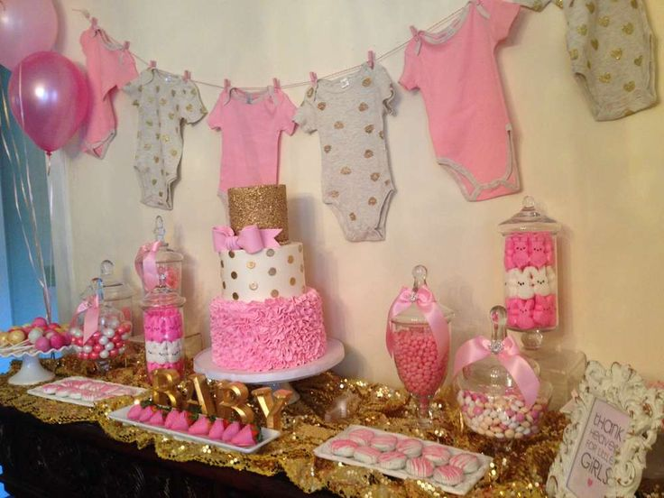 Pink and gold  Baby Shower Party Ideas | Photo 1 of 57