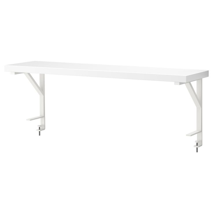 EKBY ÖSTEN/EKBY TÖRE Desk top shelf - IKEA  Add on for my craft tables. I always need the extra storage space. 2 of these would be great!