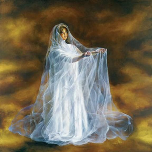 Painting by Akiane Kramarik, child of former atheists who began painting at four after having visions of Jesus and Heaven. Her parents had never spoken to the children of God or anything dealing with religion.