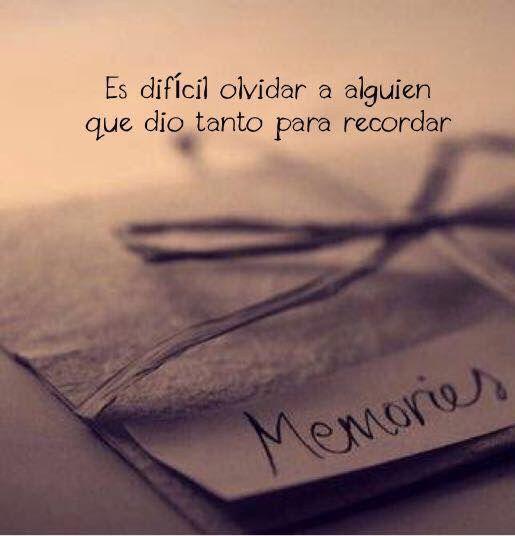 〽️ Es difícil olvidar a alguien que dio tanto para recordar...