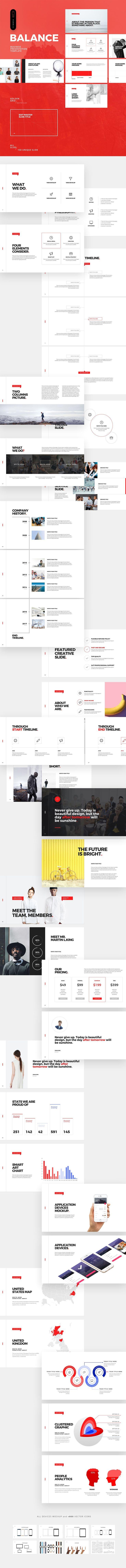 Balance Business Powerpoint by Dublin_Design on @creativemarket