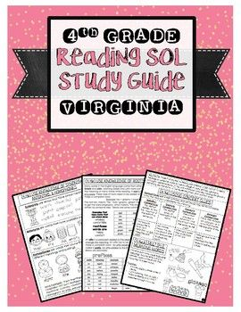 This is a study guide for Virginia's 4th Grade Reading SOL. It includes the skills that will be tested from the SOL Blueprint. Skills are described with examples. I have also included some graphics to help visual learners. Some of the skills included are: Word Analysis: Synonyms, Antonyms, Homophones, Affixes, Roots, Context Clues, Multiple Meaning Words, Word Reference Sources