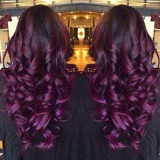 Achados da Mel: Inspiração de cabelo: Ruivo violeta