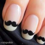 Messed Up Mustache Nails, via @Craft Fail