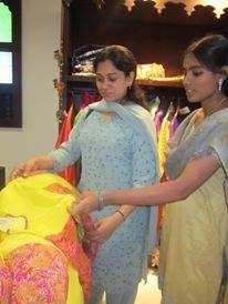 Popular film director Anjali Menon at Vedhika store