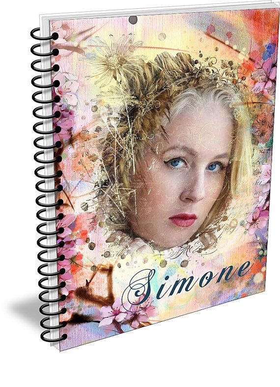 Personalized Notebook. Custom Journal, Spiral Notebooks, Small Note Books, Personalized Gifts, Flowery Background, Own Photo - AGDNB-001