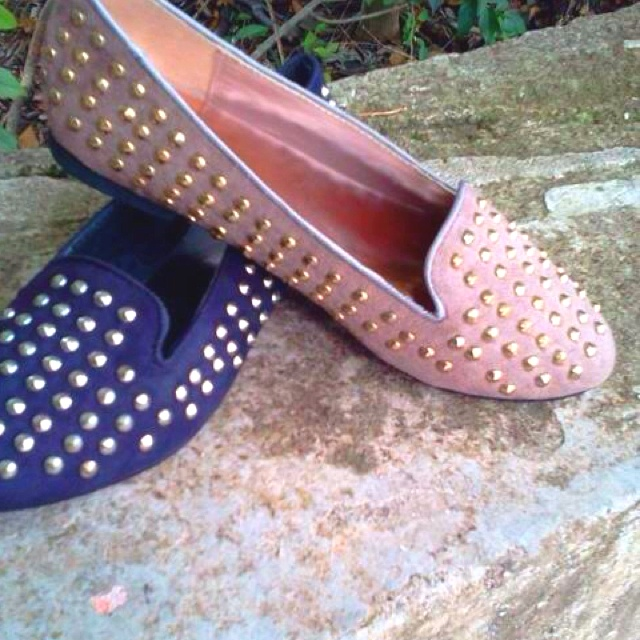 Studded flats @ Almost Pink