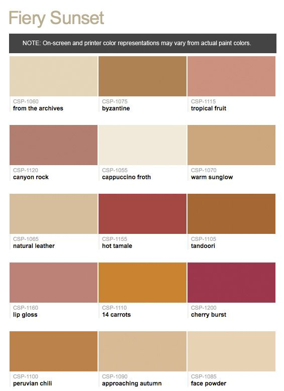 Benjamin Moore Color Stories Full Spectrum Color Fiery
