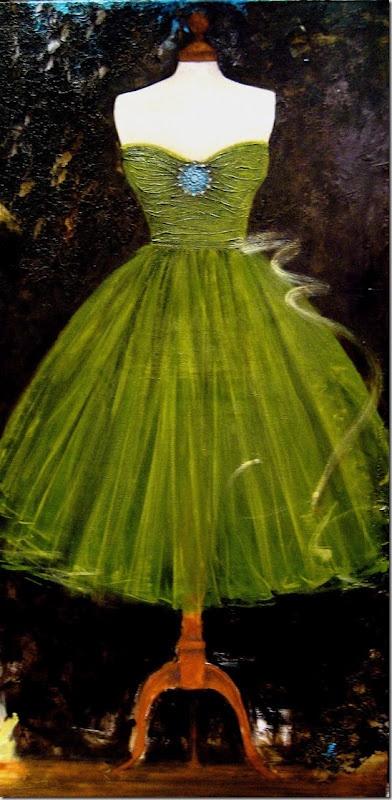.: Emeralds Cities, Color, Parties Dresses, Andrea Stajanferkul, Fantasy Dresses, Green Parties, Prom Dresses, Vintage Green, Green Dresses