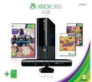 Xbox 360 4GB   Kinect   3 gry