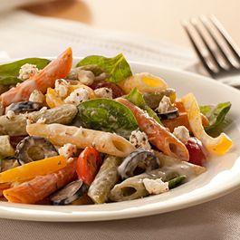 Creamy Mediterranean-style Pasta Salad | Favs | Pinterest