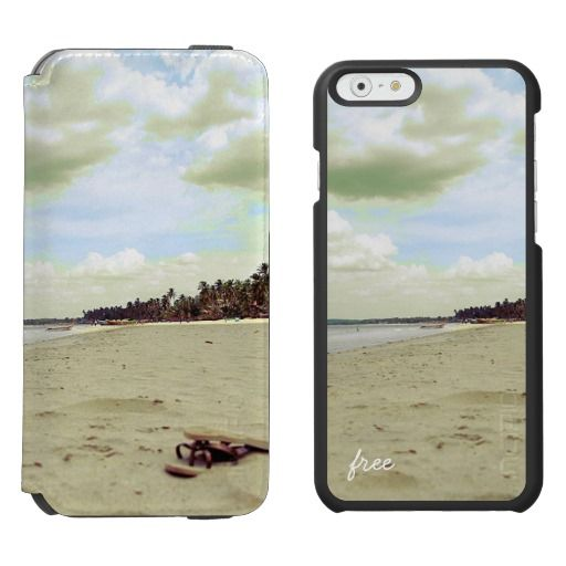 """Sandals on Beautiful Tropical Beach - """"Free"""" / Incipio Watson™ iPhone 6, 2-in-1 Wallet Case + Interior Case! #fomadesign"""