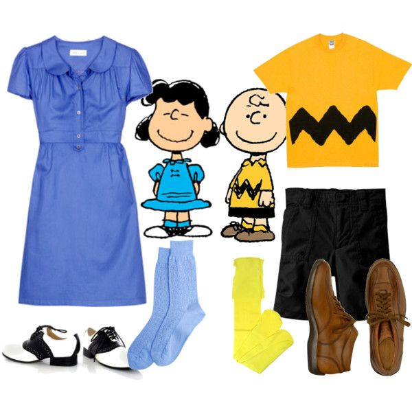 """The Peanuts: Lucy Van Pelt and Charlie Brown!"" by funkygal on Polyvore"