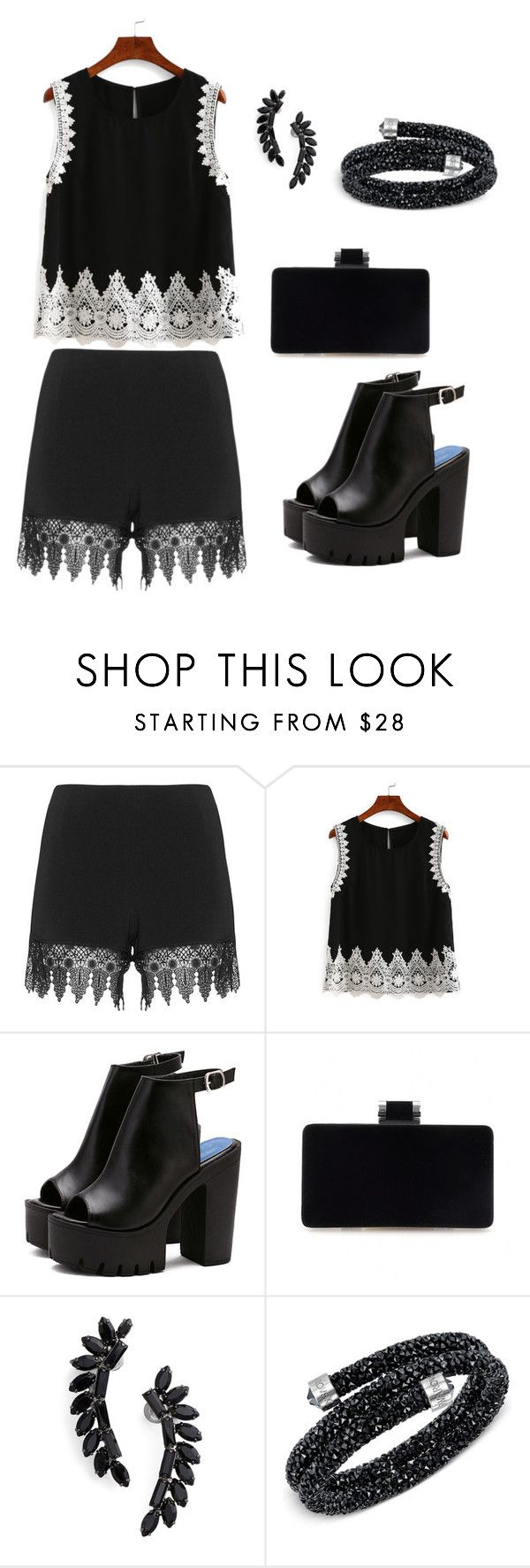 """Tekne partisi"" by ronabar ❤ liked on Polyvore featuring JunaRose, Cristabelle and Swarovski"