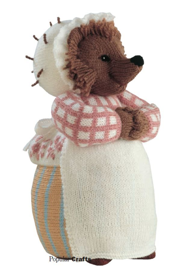 Hegehog Mom – free pattern — hedgehog mom? More like miss Tiggy Winkles. Get your Beatrix Potter right! :P Lia Lia