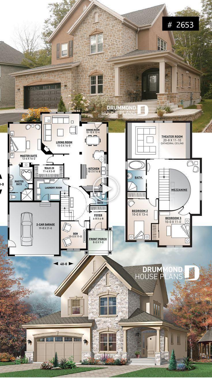 Europeenne De Luxe Plan De Maison 3 A 4 Chambres A Coucher Ouvrir Chambres A Coucher Europeenne Maison De Luxe Plans De Maison De Luxe Maison Sims