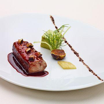 Daniel Boulud's slow baked sea bass, fennel royale & caramelized figs ¦ Four Magazine