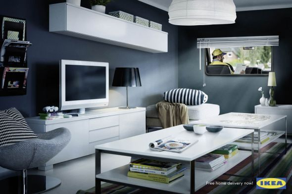 Ikea: Living room double meaning