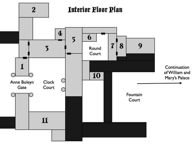 Hampton court plan and tour- everythingtudor.com: Hampton Court, Court Plans