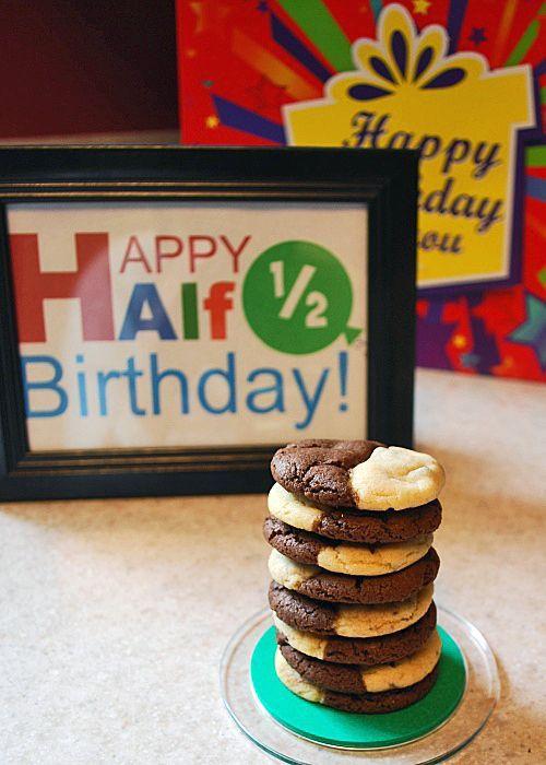 Brookies! (half brownies, half cookies) Perfect for a HALF BIRTHDAY!