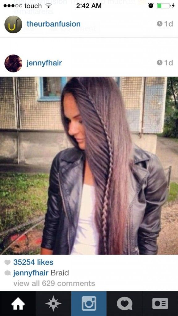 Braid with long hair …..and style…