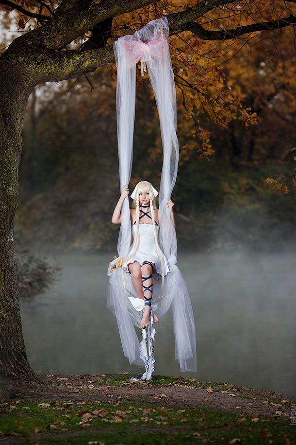 Chobit – Photography by Fedorenko Julia What an amazing set-up! Looks like it's straight out of a CLAMP artbook.