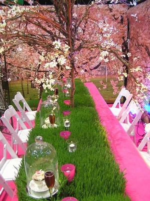 Children's Book Awards - Pink blossom tress + fresh greenery, beautiful!
