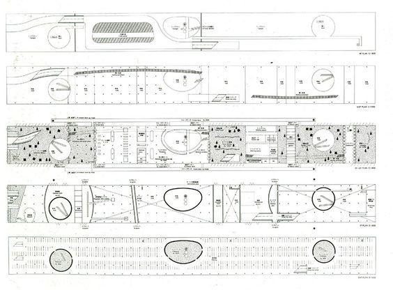 Kazuyo Sejima, propuesta para la terminal marítima de Yokohama, 1994. El Croquis n°77.