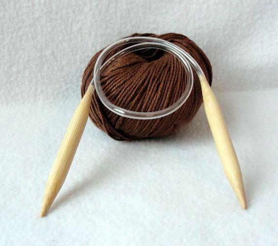 Circular knitting needle  Bamboo knitting by longbeachdesigns