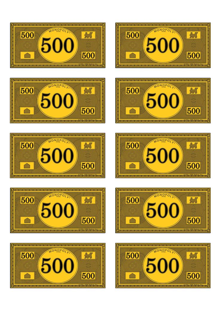 Monopoly Money 500 Monopoly Money 500