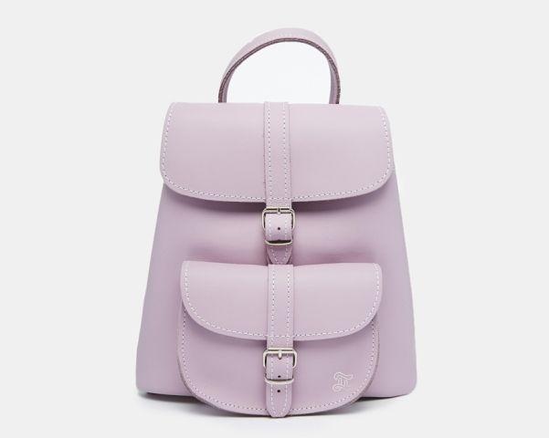 Mini backpack in lilac, £145.00 GRAFAE at ASOS asos.com