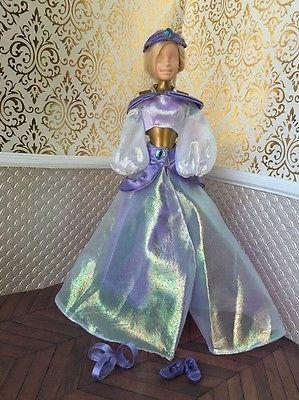 Jasmine Aladdin Purple Disney Princess Barbie Doll Gold