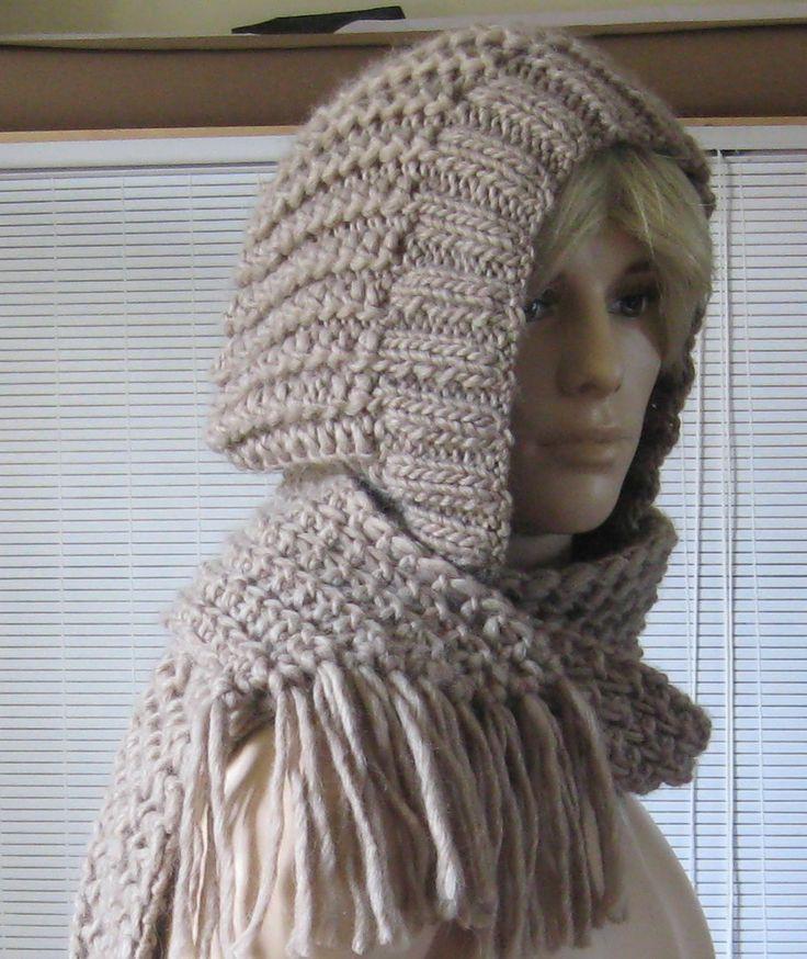 comment tricoter une echarpe capuche
