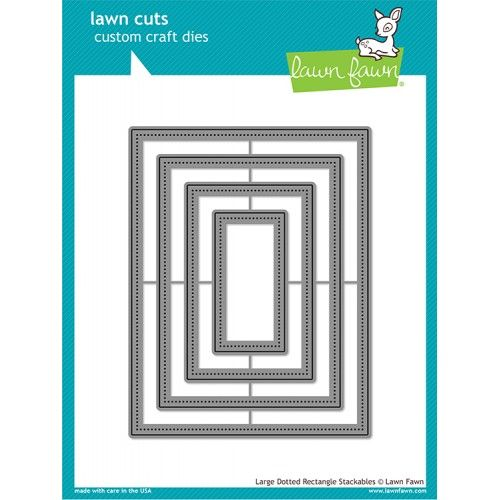 Wykrojniki - Large Dotted Rectangle Stackables - Lawn Fawn